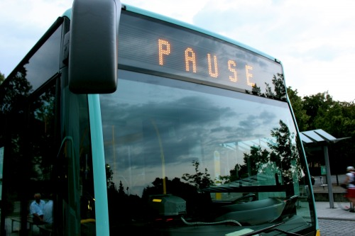 Wayfinding and Typographic Signs - bus-sign