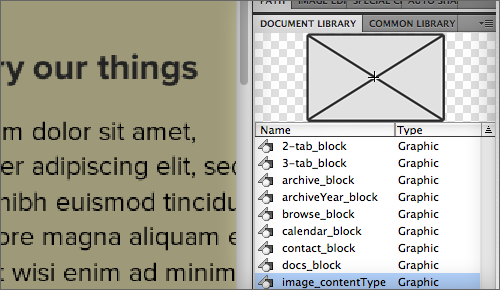 The Document Library is where all of your symbols are stored