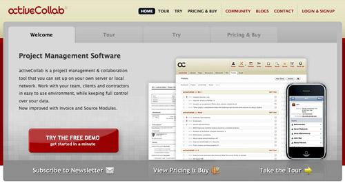 Screenshot of ActiveCollab