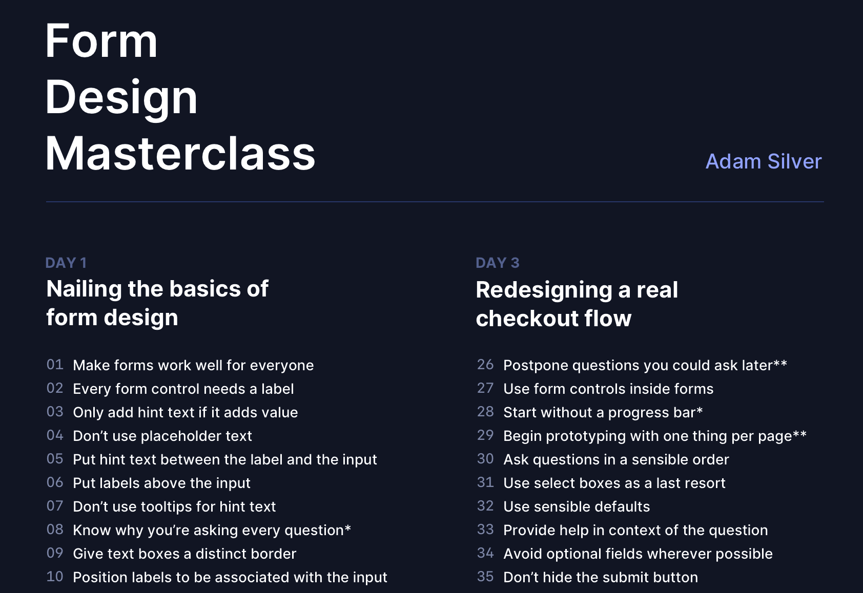Things To Expect From A Smashing Workshop: Form Design Masterclass