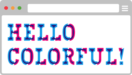 Multi-color font