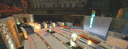 Memorial Garden At Night
