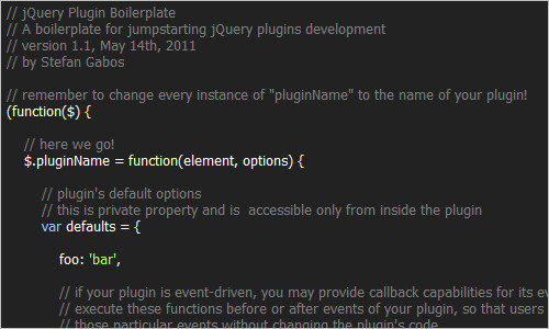 jQuery Plugin Boilerplate