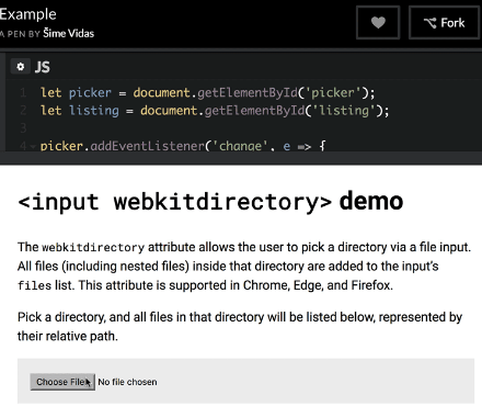Uploading Directories At Once With webkitdirectory
