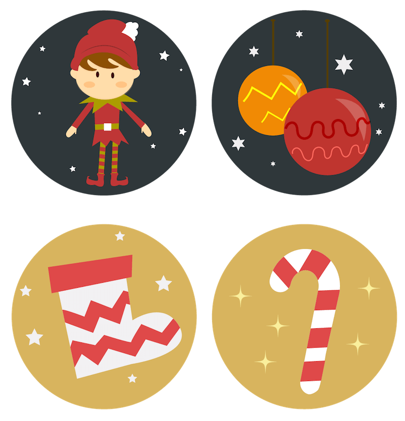 25 Free Christmas Advent Icons To Bring Festive Mood To Your Site