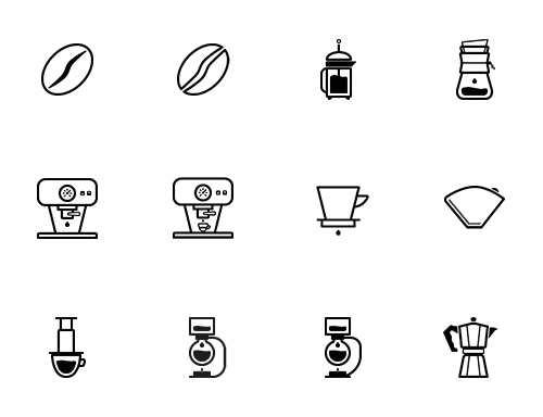 50 Tasteful Barista And Coffee Lovers Icons Freebie