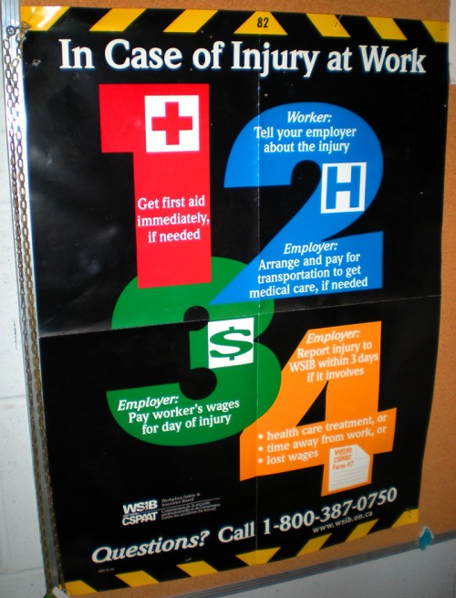 Wayfinding and Typographic Signs - in-case-of-injury