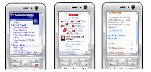 American Airlines, CNN, and Southwest simplify mobile navigation
