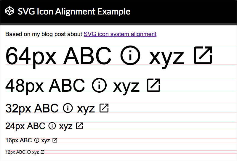 Aligning SVG Icons To Text