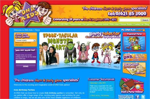 Dna-kids-homepage in Best Practices For Designing Websites For Kids