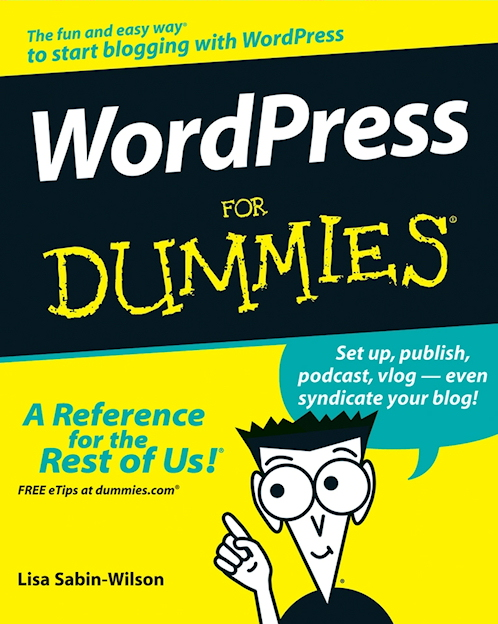 A Picture of the cover of WordPress for dummies