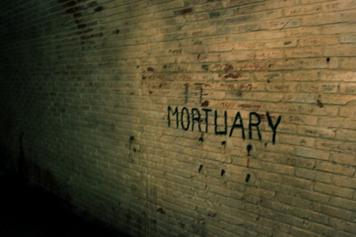 Wayfinding and Typographic Signs - underground-mortuary