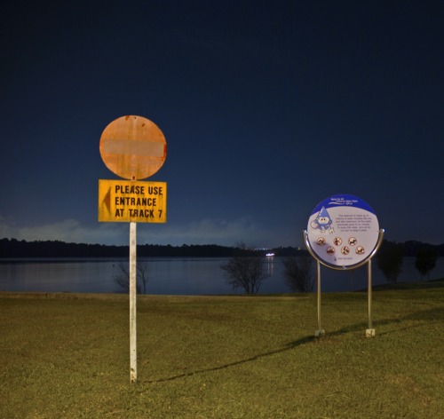 Wayfinding and Typographic Signs - stop-deep-water-ahead