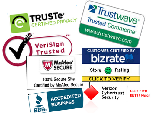 Build confidence using trusted third-party certifications and affiliations