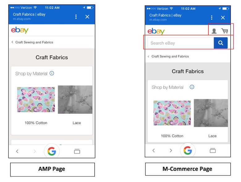 How eBay implements AMP pages