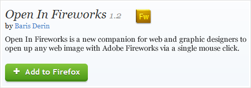 Open In Fireworks, a Mozilla Firefox add-on