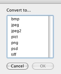 Conver Image Screenshot with file formats