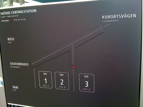 Wayfinding and Typographic Signs - skovde--central-station-sign