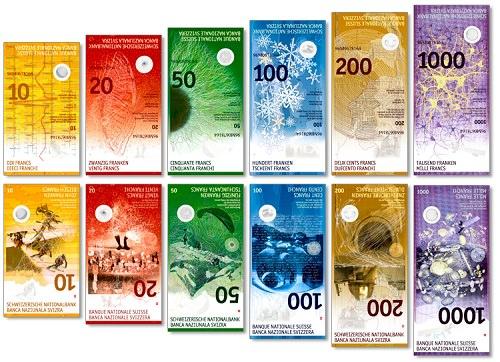 Swiss frank banknote design by Manuela Pfrunder
