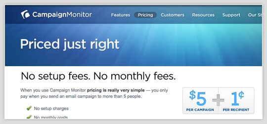 Campaign Monitor Pricing