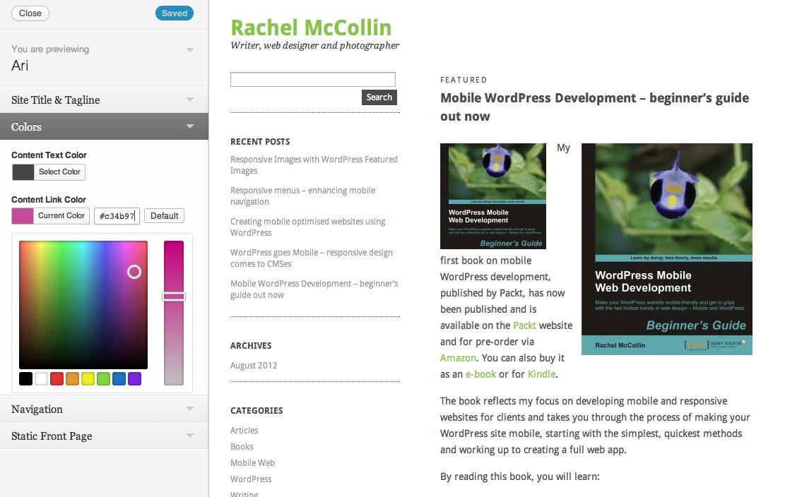 The WordPress Customizer – A Theme Developer's Guide — Smashing Magazine