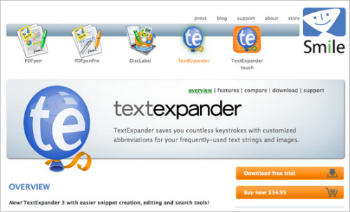TextExpander website