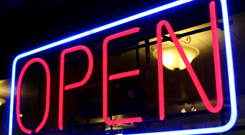 A Neon Open Sign