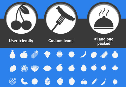 200 Foodie Pack - A Free Set Of Beautiful Food Icons