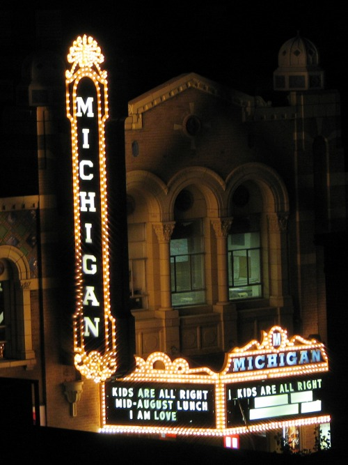 Wayfinding and Typographic Signs - michigan-theater