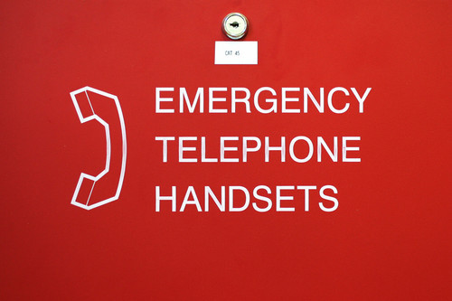 emergency telephone handsets