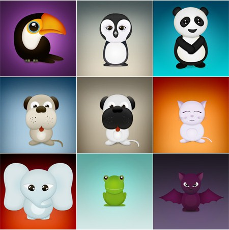 Free Icons Round-Up - Cute Critters Free Icon Pack
