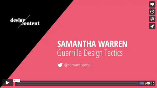Samantha Warren – Guerrilla Design Tactics