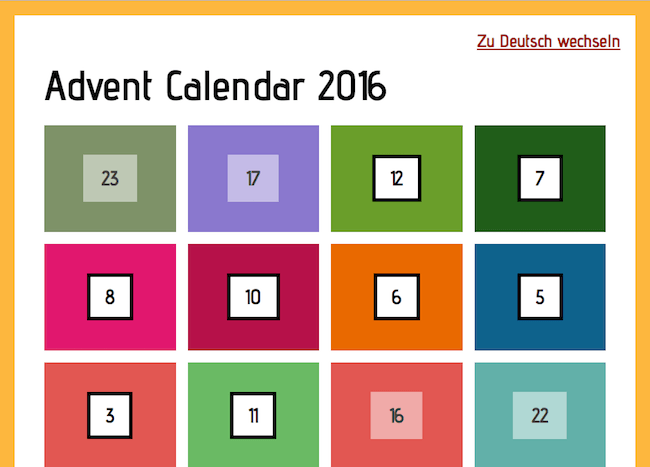 Jens Grochtdreis' Advent Calendar 2016
