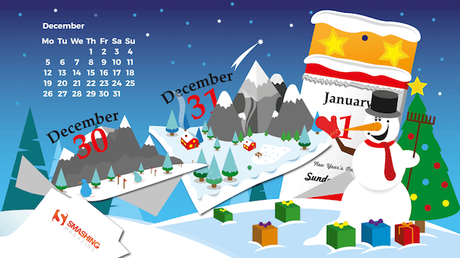 Christmas Wallpaper — Winter Calendar