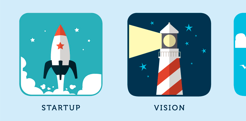Business Concept Icons closeup
