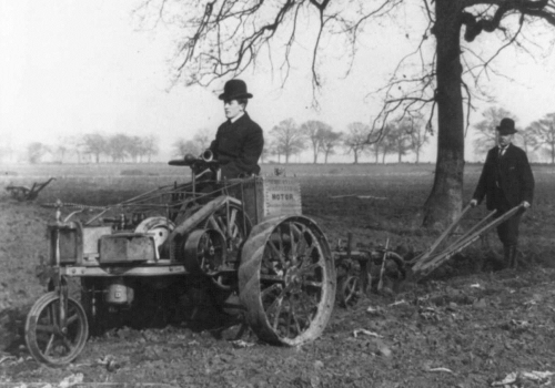 Tractor Automobile Plow 1905