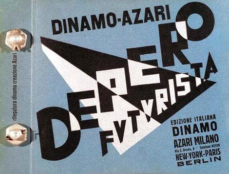 <em>Fortunato Depero's book </em>Depero Futurista,<em> 1927.</em>