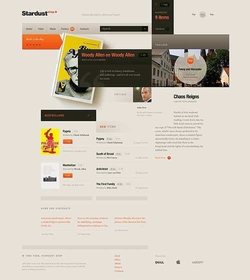 Russian Web Design - Stardust shop.
