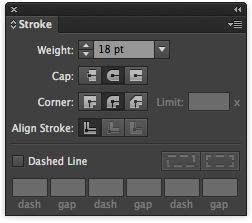 Adjusting the stroke's width.