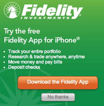 Fidelity's home page