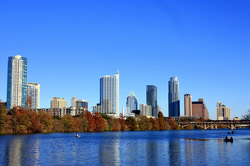 Austin, Texas in autumn