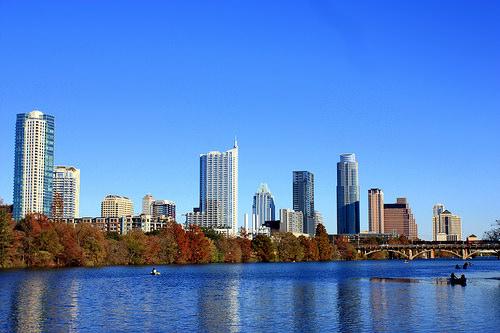 Austin, Texas in autumn