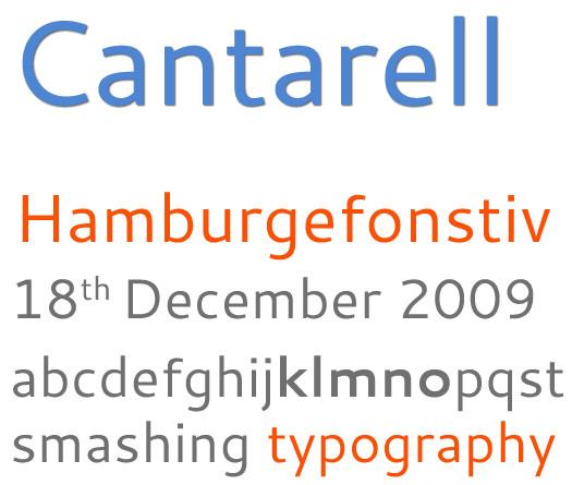 Beautiful Free Fonts - free font cantarell