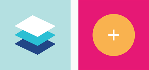 An example of material design artwork