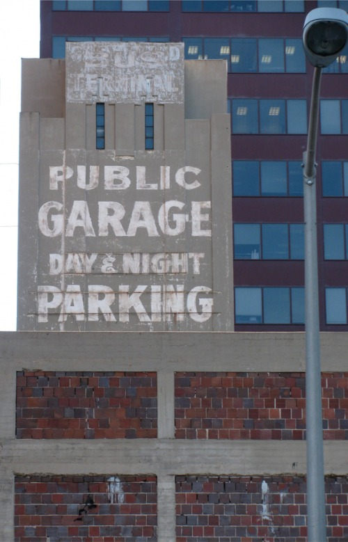Wayfinding and Typographic Signs - public-garage-parking