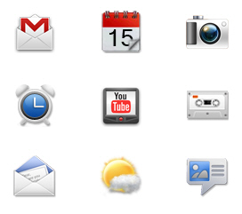 Free Icon Sets - New HTC Sense UI 2.1 Icons