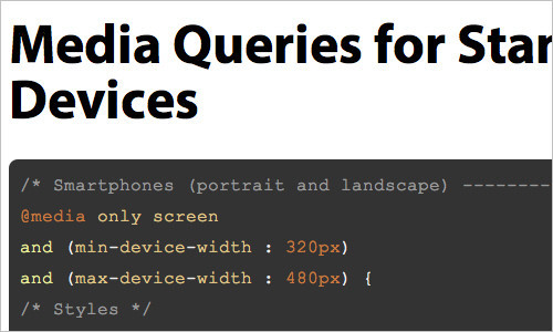 Media Queries for Standard Devices