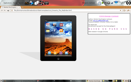 CSS3 Designs For Free Download - css3-ipad-with-shadow
