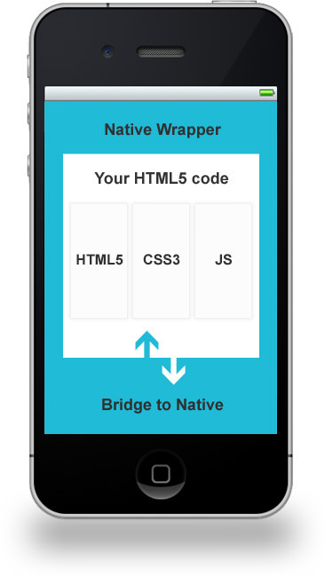 native webview wrapper around a html css javascript code base