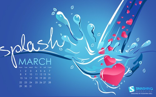 february 2016 desktop wallpaper calendar